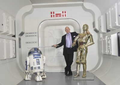 Hanging around with R2-D2 and C-3PO